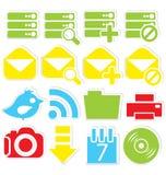 Internet icons database Royalty Free Stock Photo