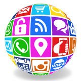 Internet icons globe Stock Photos
