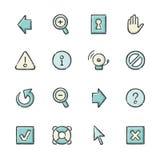 Internet Icons stock illustration