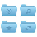 Internet Icons | Light Blue Folders 01 Stock Photo