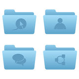 Internet Icons | Light Blue Folders 02. Professional icons for your website, application, or presentation stock illustration
