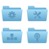 Internet Icons | Light Blue Folders 03. Professional icons for your website, application, or presentation royalty free illustration