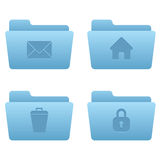 Internet Icons | Light Blue Folders 04. Professional icons for your website, application, or presentation Stock Images