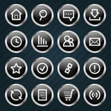 Internet Icons metal style Stock Photos