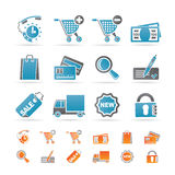 Internet icons for online shop Royalty Free Stock Image