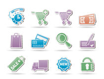Internet icons for online shop Royalty Free Stock Photography
