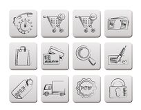 Internet icons for online shop Royalty Free Stock Photo