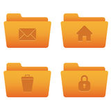 Internet Icons | Orange Folders 04. Professional icons for your website, application, or presentation Stock Image