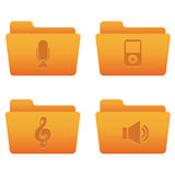 Internet Icons | Orange Folders 05. Professional icons for your website, application, or presentation Stock Photography