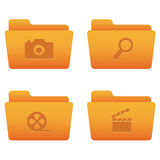 Internet Icons | Orange Folders 06 Stock Photos