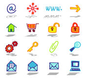Internet icons set Royalty Free Stock Photography