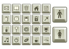 Internet icons set. Stylized keyboard internet icons set Royalty Free Stock Image
