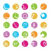 Internet icons. Set of 25 colorful internet icons, buttons Stock Image