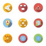 Internet icons set, flat style Royalty Free Stock Images