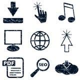Internet icons set, grunge Royalty Free Stock Image