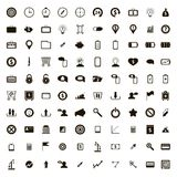 100 internet icons set, simple style. 100 internet icons set in simple style on a white background royalty free illustration