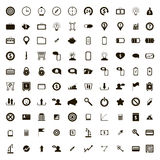 100 internet icons set, simple style. 100 internet icons set in simple style on a white background stock illustration