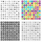 100 internet icons set vector variant. 100 internet icons set vector in 4 variant for any web design isolated on white Stock Photo