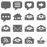 Internet icons set - website buttons vector - message icon Stock Photography