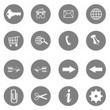 Internet icons set - website buttons vector. On white background royalty free illustration