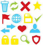 Internet icons trash bin Stock Photos