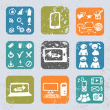 Internet icons in vintage style Royalty Free Stock Photo