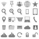 Internet icons on white background Royalty Free Stock Images