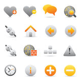 Internet Icons | Yellow 05. Professional set for your website, application, or presentation Stock Photography