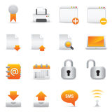 Internet Icons | Yellow 06. Professional set for your website, application, or presentation stock illustration