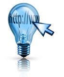 Internet Idea. Digital illustration concept of a http light bulb Stock Photo