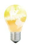 Internet idea. Ding--golden america in lightbulb -- internet business idea Royalty Free Stock Images