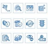 internet ikoną ochrony Zdjęcia Royalty Free