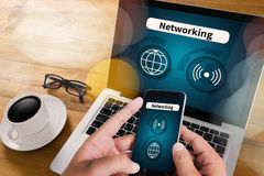 Internet-Ikone Smart knöpft Ikone, VERNETZUNG Stockbilder