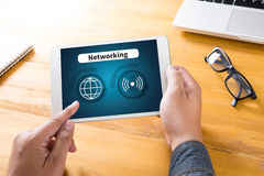 Internet-Ikone Smart knöpft Ikone, VERNETZUNG Lizenzfreie Stockfotografie