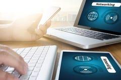 Internet-Ikone Smart knöpft Ikone, VERNETZUNG Lizenzfreies Stockbild