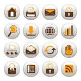 Internet-Ikonen Lizenzfreie Stockbilder