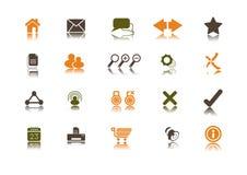 Internet-Ikonenset   Sauber Stockbilder
