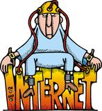 Internet illustration Stock Image