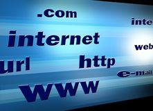 Internet illustration TV ad Stock Photo