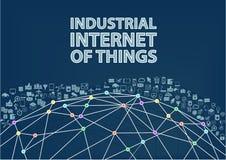 Internet industrial del fondo del ejemplo de las cosas Fotografía de archivo libre de regalías