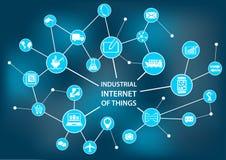 Internet industriale delle cose/industria 4 0 concetti As illustrazione di stock