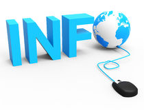 Internet Info Represents World Wide Web And Globalize Stock Image
