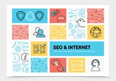 Internet Infographic Template Stock Image