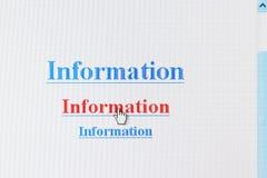 internet informacyjny link Zdjęcia Stock