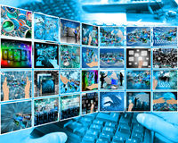 Internet interface Stock Photography
