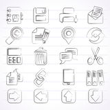 Internet Interface Icons Stock Photography