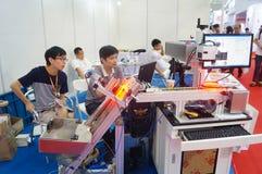 Internet internacional de Shenzhen de cosas y la sabiduría de la expo de China Foto de archivo