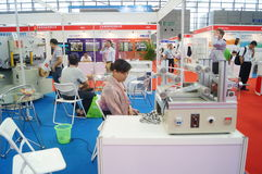 Internet internacional de Shenzhen de cosas y la sabiduría de la expo de China Imagen de archivo