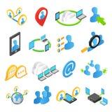Internet isometric 3d icons set Royalty Free Stock Photos