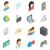 Internet Isometric Icon Set Royalty Free Stock Photography